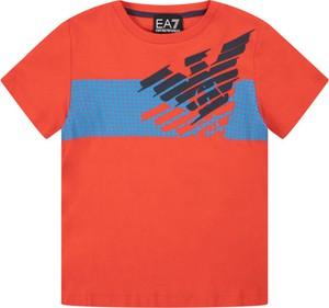 Czerwona koszulka dziecięca Emporio Armani