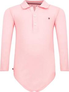 Różowe body niemowlęce Tommy Hilfiger dla dziewczynek