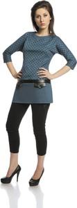 Tunika Fokus w stylu casual ze skóry ekologicznej mini