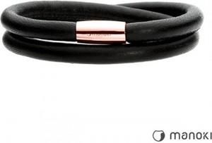 Manoki BA510RB czarna bransoletka damska ze skóry