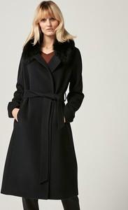 PATRIZIA ARYTON Płaszcz w kolorze czarnym - FUTRO Z LISA