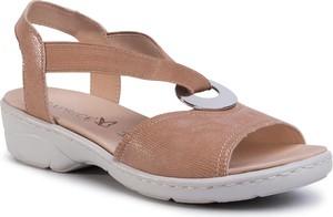Sandały Caprice z zamszu
