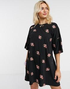 Czarna sukienka Asos oversize
