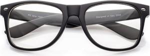 Stylion Okulary Nerdy zerówki czarne matowe 0070