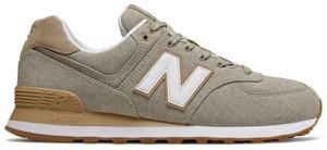 Brązowe buty sportowe New Balance w sportowym stylu sznurowane 574