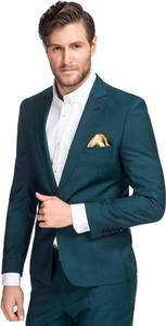 Zielona marynarka Giacomo Conti z wełny
