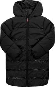 Czarny płaszcz dziecięcy Billieblush