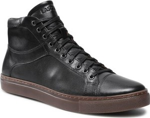 Czarne buty zimowe Lasocki w stylu casual ze skóry sznurowane