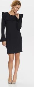Czarna sukienka Top Secret z dzianiny z okrągłym dekoltem mini