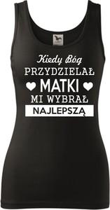 Czarny top TopKoszulki.pl z okrągłym dekoltem