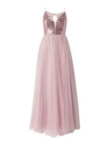 Sukienka V.m. z dekoltem w kształcie litery v na ramiączkach z tiulu