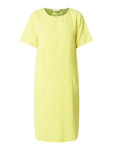 Żółta sukienka Blonde No. 8 mini z okrągłym dekoltem w stylu casual