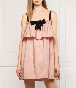 Różowa sukienka N21 mini na ramiączkach