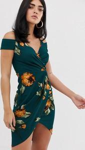Niebieska sukienka Ax Paris mini z krótkim rękawem