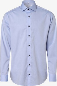 Niebieska koszula Andrew James New York z bawełny z długim rękawem