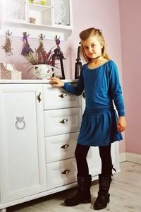 Niebieska sukienka dziewczęca Meleksima