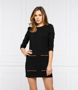 Czarna sukienka Elisabetta Franchi prosta