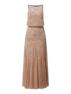 Sukienka Lace & Beads rozkloszowana bez rękawów z tiulu