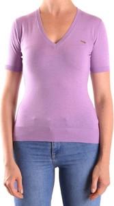 Fioletowy t-shirt Dsquared2 z krótkim rękawem