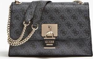 Brązowa torebka Guess mała w stylu glamour