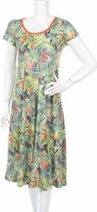 Sukienka Smash w stylu boho midi z krótkim rękawem