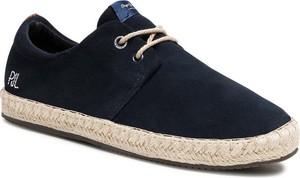 Czarne buty letnie męskie Pepe Jeans sznurowane