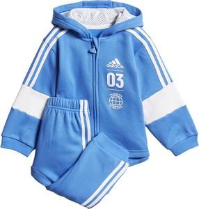 Niebieski dres dziecięcy Adidas dla chłopców