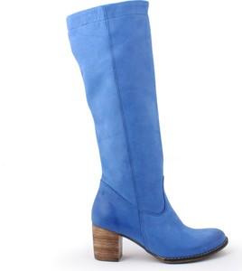 Zapato kozaki - skóra naturalna - model 154 - kolor szafir