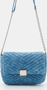 Niebieska torebka Sinsay matowa na ramię