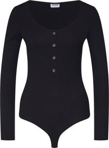 Czarna bluzka Noisy May z dżerseju z długim rękawem