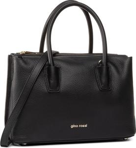 Czarna torebka Gino Rossi matowa do ręki duża