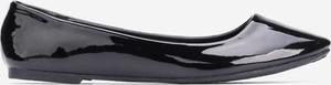 Czarne baleriny Yourshoes w stylu casual ze skóry ekologicznej