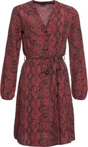 Sukienka bonprix BODYFLIRT mini w stylu casual z dekoltem w kształcie litery v