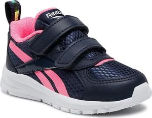 Buty sportowe dziecięce Reebok ze skóry na rzepy dla dziewczynek