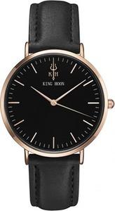 Czarny zegarek king hoon zegarki kwarcowe