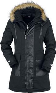 Czarny płaszcz Emp w stylu casual