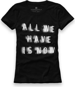 Czarny t-shirt Underworld w młodzieżowym stylu z bawełny