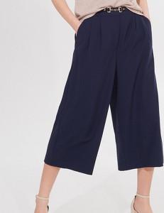 Granatowe spodnie Mohito
