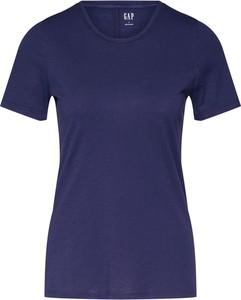 Niebieska bluzka Gap z bawełny w stylu casual