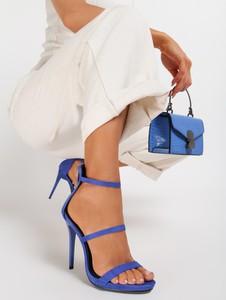 Niebieskie sandały Renee na wysokim obcasie na zamek