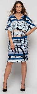Sukienka Bialcon mini z okrągłym dekoltem