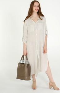 Sukienka Unisono w stylu casual maxi z długim rękawem