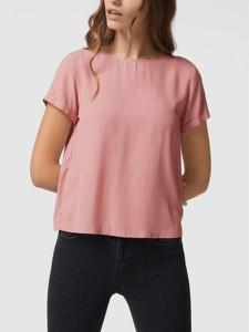 Różowy t-shirt Review z okrągłym dekoltem z krótkim rękawem