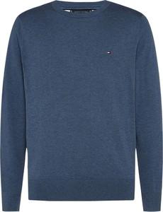 Sweter Tommy Hilfiger z wełny z okrągłym dekoltem w stylu casual
