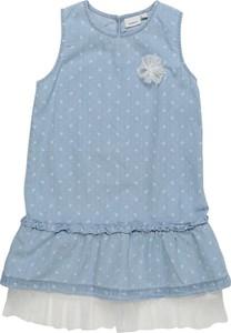 Niebieska sukienka dziewczęca Name it z jeansu