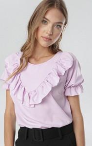 Fioletowa bluzka born2be z okrągłym dekoltem