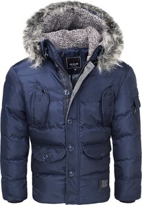 Granatowa kurtka Recea w młodzieżowym stylu