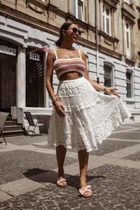 Spódnica Shoq midi z bawełny