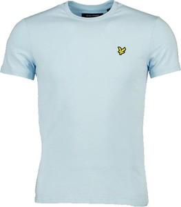 Niebieski t-shirt Lyle & Scott w stylu casual z krótkim rękawem