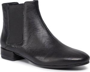 Czarne botki Vagabond w stylu casual z płaską podeszwą